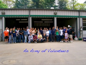 army of volunteers