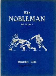 1938 Nobleman's cover  to celebrate Nobles-Milton Weekend